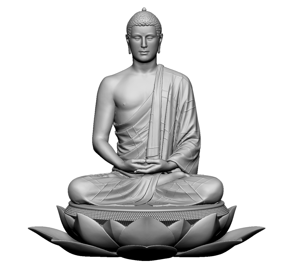 3D scan of a buddha sculpture